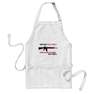 Los armas no matan a lema anti del arma de la gent delantal