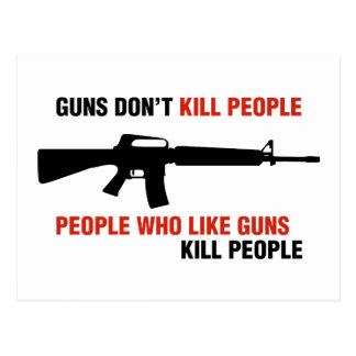 Los armas no matan a lema anti del arma de la gent postal