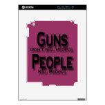 Los armas no matan a negro de la gente de la matan calcomanías para iPad 2