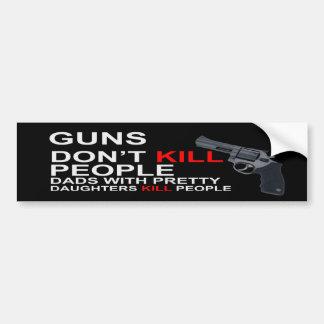 Los armas no matan a pegatinas para el parachoques pegatina para auto