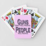 Los armas no matan a púrpura de la gente de la mat cartas de juego
