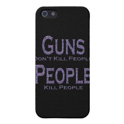 Los armas no matan a púrpura de la gente de la mat iPhone 5 cárcasa
