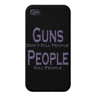 Los armas no matan a púrpura de la gente de la mat iPhone 4 protectores