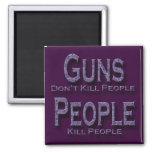 Los armas no matan a púrpura de la gente de la mat imán para frigorifico