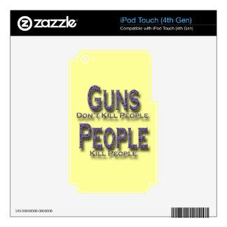 Los armas no matan a púrpura de la gente de la mat iPod touch 4G skins