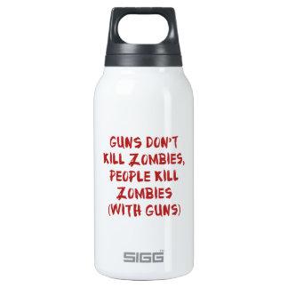 Los armas no matan a zombis botella isotérmica de agua