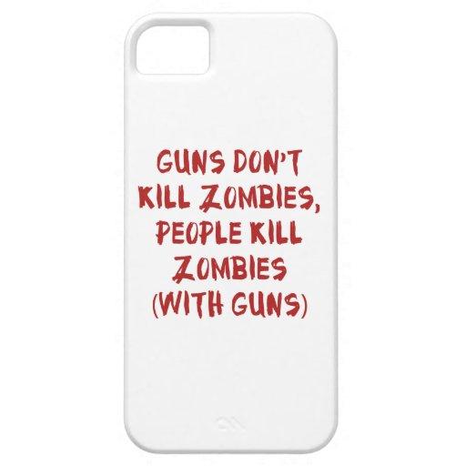Los armas no matan a zombis iPhone 5 fundas