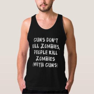 Los armas no matan a zombis playera de tirantes