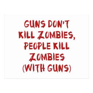 Los armas no matan a zombis tarjetas postales