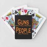 Los armas no matan al naranja de la gente de la ma baraja cartas de poker