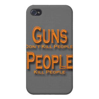Los armas no matan al naranja de la gente de la ma iPhone 4 carcasas