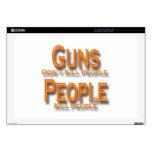 Los armas no matan al naranja de la gente de la ma 43,2cm portátil calcomanías