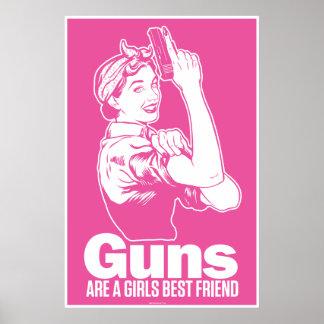 Los armas son poster del mejor amigo de un chica póster