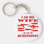 Los armas soy su esposa cualquier pregunta llaveros
