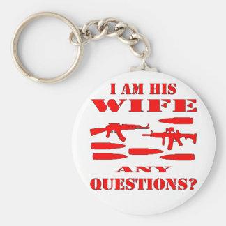 Los armas soy su esposa cualquier pregunta llavero redondo tipo pin