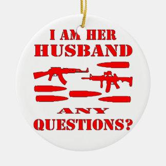 Los armas soy su marido cualquier pregunta adorno de navidad