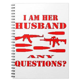 Los armas soy su marido cualquier pregunta libretas espirales