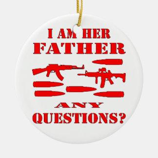 Los armas soy su padre cualquier pregunta adorno de navidad