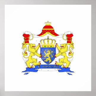 Los armes de Grandes pagan Bas, Países Bajos Poster