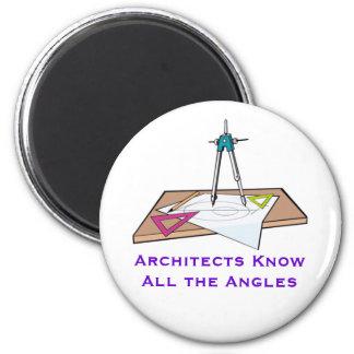 Los arquitectos saben todo el imán de los ángulos