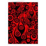 Los artes del modelo - tatúe el rojo del fuego de tarjeta de felicitación