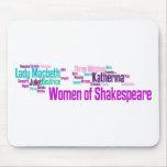 Los artículos inspiraron por las mujeres del stori tapete de ratón