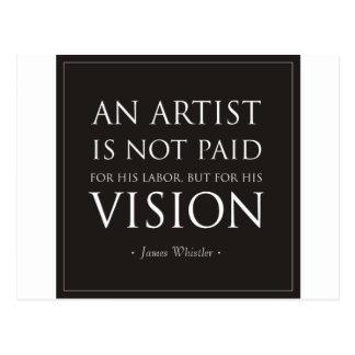 Los artistas no son pagados para el trabajo, sino tarjeta postal