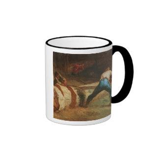 Los aserradores de madera, 1848 taza de café