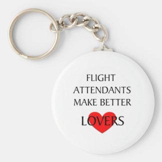Los asistentes de vuelo hacen a mejores amantes llavero redondo tipo pin