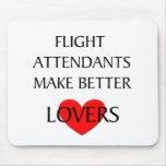 Los asistentes de vuelo hacen a mejores amantes alfombrillas de ratones