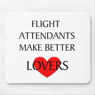 Los asistentes de vuelo hacen a mejores amantes mousepads