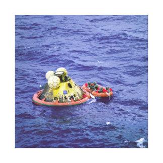 Los astronautas de Apolo 11 vuelven a casa Lona Envuelta Para Galerías