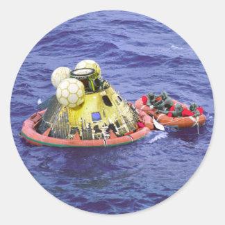 Los astronautas de Apolo 11 vuelven a casa Pegatina Redonda