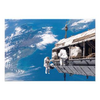 Los astronautas participan en activi fotografías