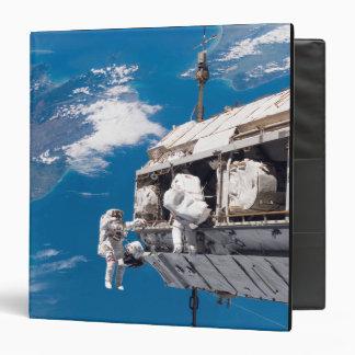 Los astronautas participan en el activi