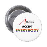 ¡Los ateos aceptan todos! Pin