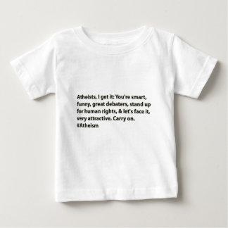 Los ateos de los #Atheists, lo consigo: Playera De Bebé