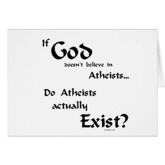 ¿Los ateos existen? Tarjetón