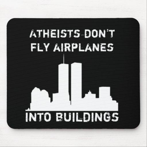 Los ateos no vuelan los aeroplanos en edificios alfombrillas de raton