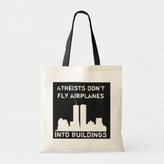 Los ateos no vuelan los aeroplanos en edificios bolsas de mano