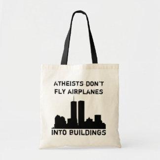 Los ateos no vuelan los aeroplanos en edificios bolsas
