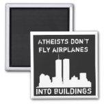 Los ateos no vuelan los aeroplanos en edificios imán de nevera