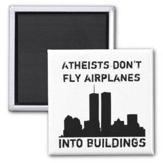 Los ateos no vuelan los aeroplanos en edificios iman de nevera