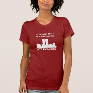 Los ateos no vuelan los aeroplanos en edificios camiseta