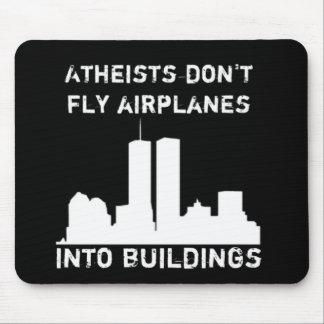 Los ateos no vuelan los aeroplanos en edificios tapete de ratones