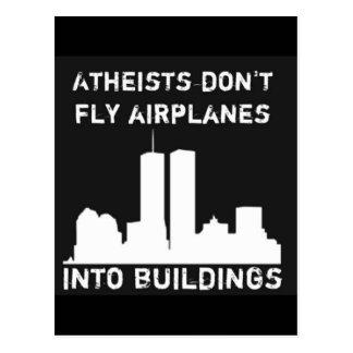 Los ateos no vuelan los aeroplanos en edificios postal
