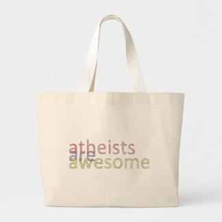 "Los ""ateos son"" bolso impresionante bolsa tela grande"
