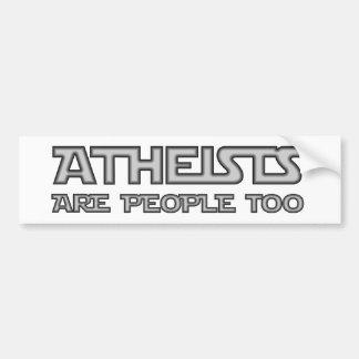 Los ateos son gente también pegatina para auto