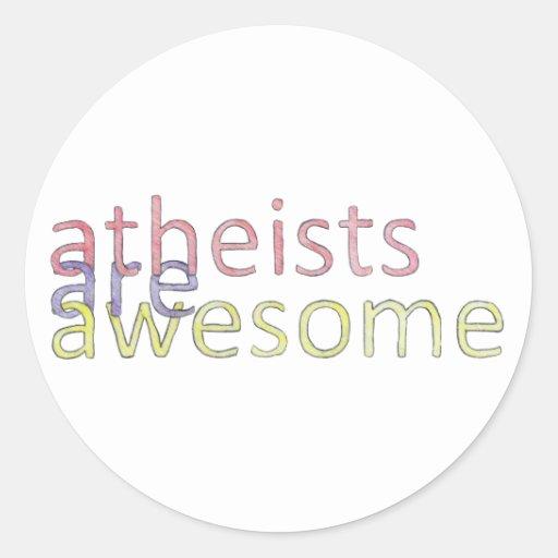 """Los """"ateos son"""" pegatina impresionante"""