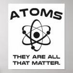 Los átomos son todos que importan poster